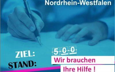 Wir sammeln Unterstützungsunterschriften für die Bundestagswahl